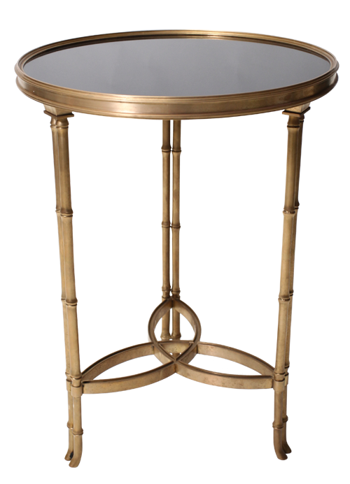 Bamboo Mirrored Side Table