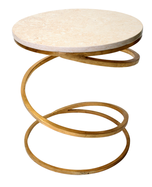 Gold Spiral Side Table