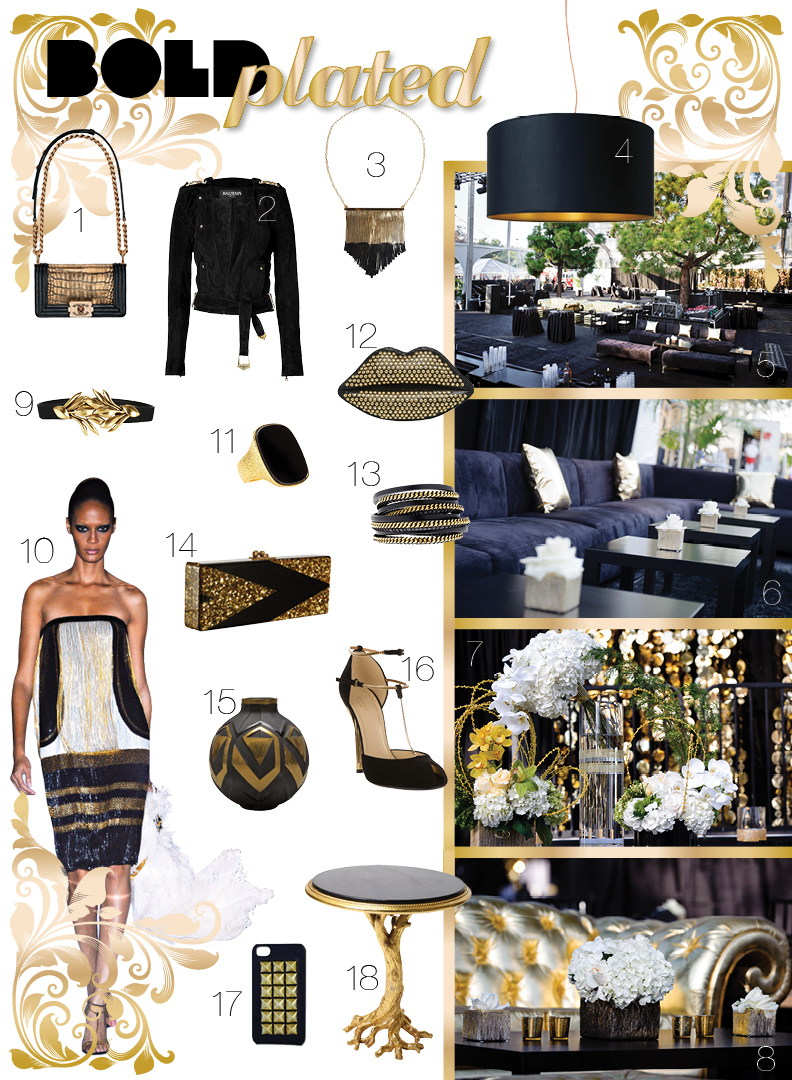 black and gold trend with elite productions international