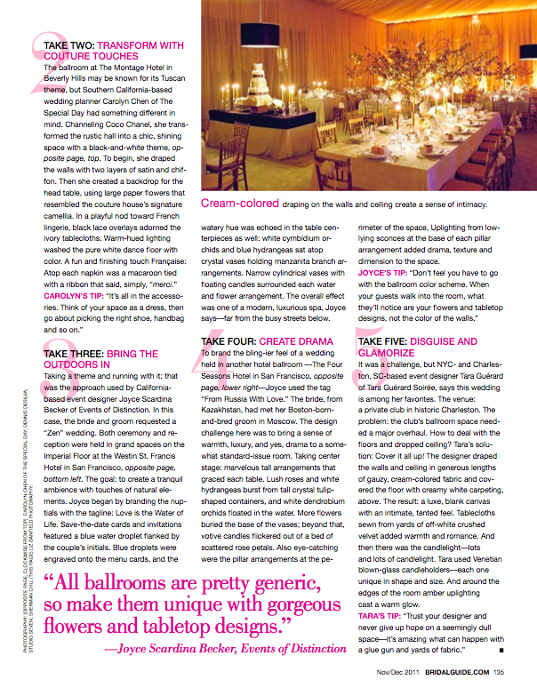 bridal guide magazine features revelry event designers
