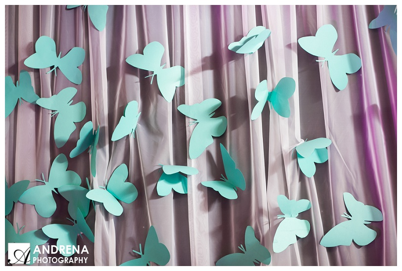 Tiffany Blue Butterflies on Draping