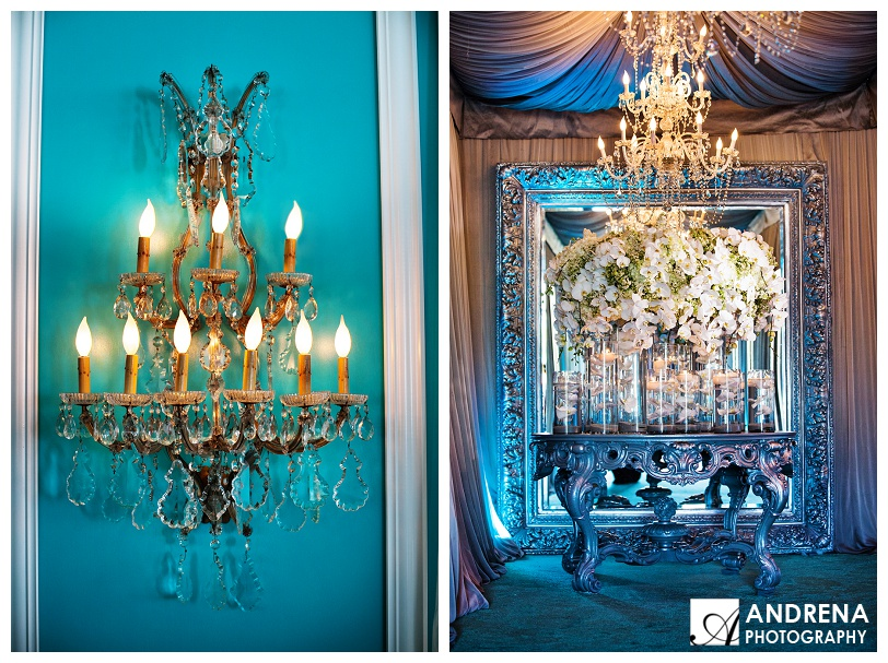Tiffany Blue and White Party with Chandeliers