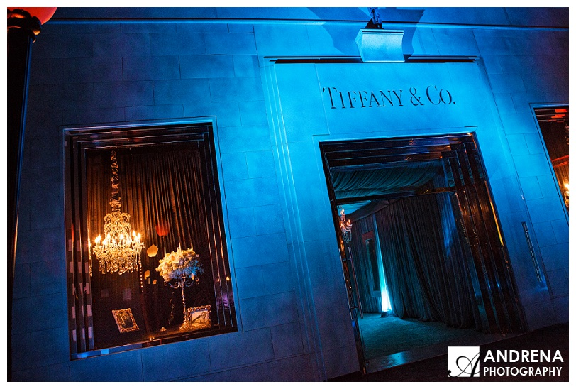 Tiffany and Co recreated facade at night