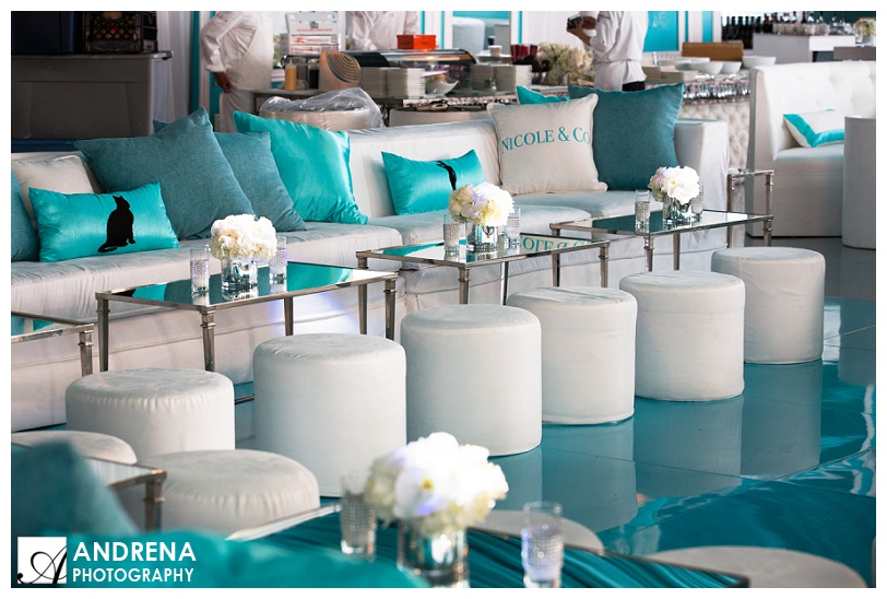 Tiffany Blue and White Lounge