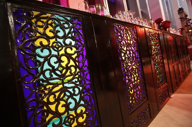 Stained Glass Bar Detail