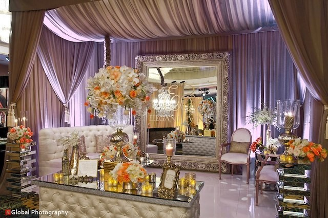 Neutral Room with Draping