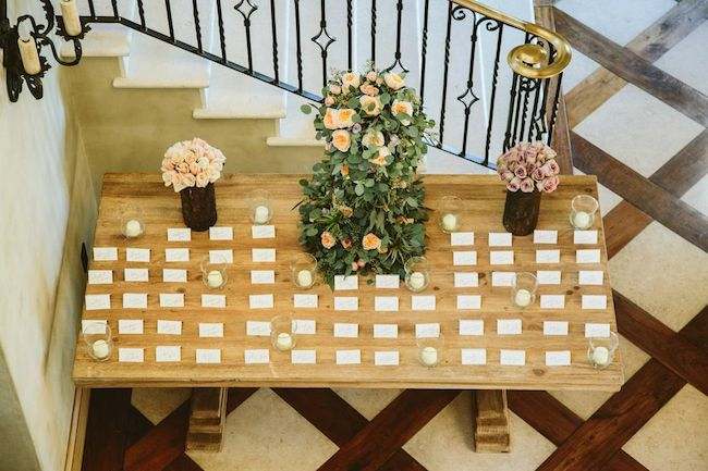 Wood Escort Card Table