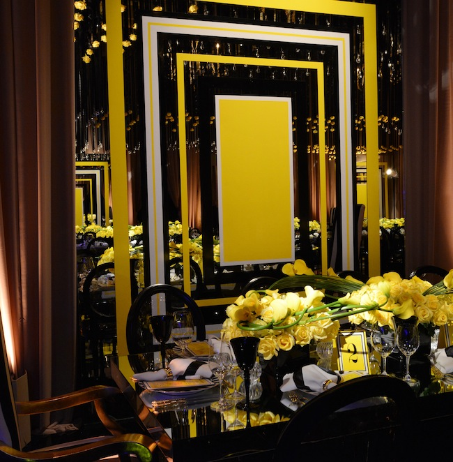 Yellow and Black Event Decor