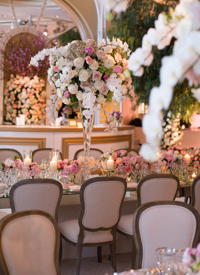 beverly hills hotel, beverly hills wedding, blush wedding