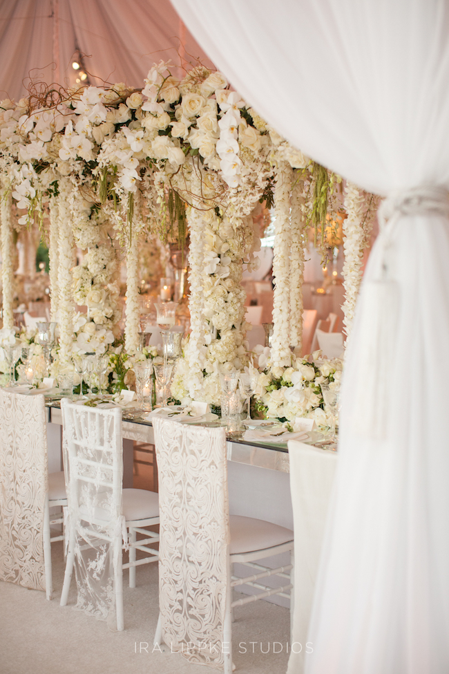 draped florals, draping, marks garden