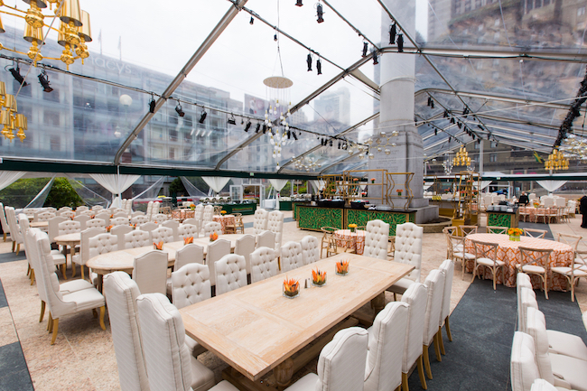 revelry event designers, San Francisco, tented reception, emerald and gold